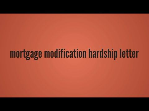 Best Hardship Letter For Mortgage Modification Images On