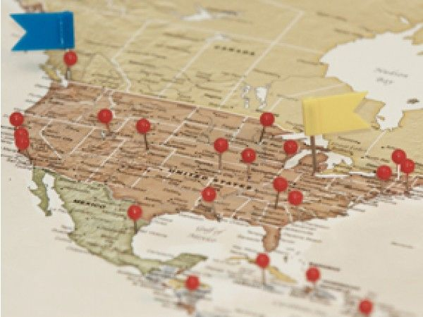 Personalized Travel Maps: MLB Team Map - Map of National Parks in the United States