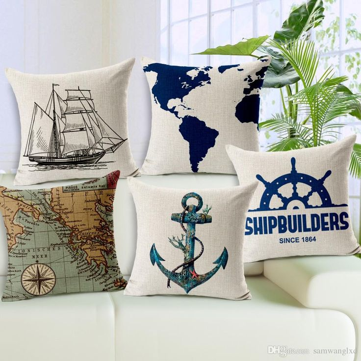 5.00 each Geometric Sofa Throw Pillows Decorotive Vintage Retro Throw Pillow Case Anchors Sailboat Cotton Linen Cushion Covers Capas De Almofada Outdoor Furniture Cushions Replacement Wicker Replacement Cushions From Samwanglxd, $4.78| Dhgate.Com