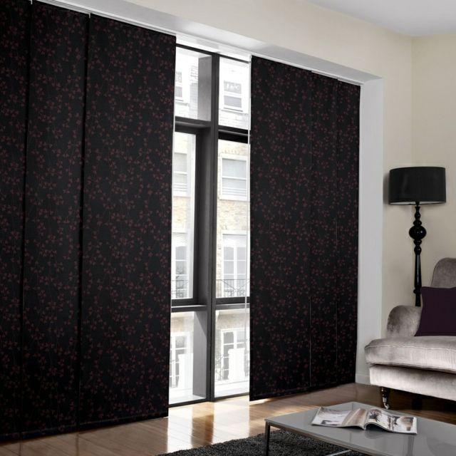 17 meilleures id es propos de rideau japonais sur pinterest rideau panneau panneaux de for Rideausalon moderne noir