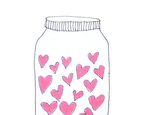 Biglietto festa della mamma, ti amo scheda, barattolo di cuori rosa amore cartolina d