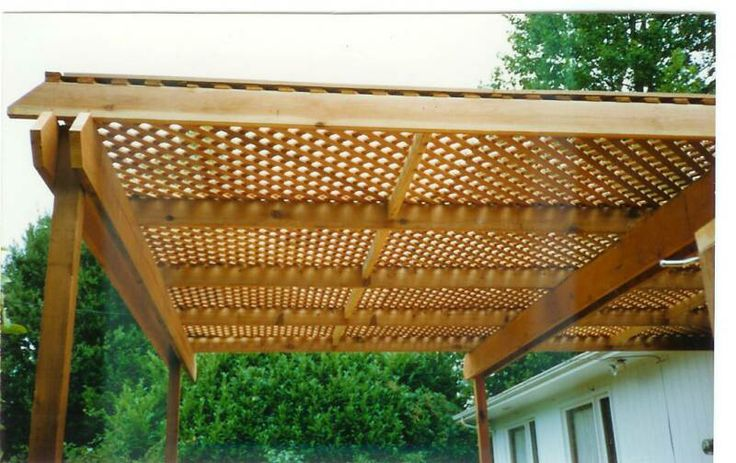 lattice patio roof - Google Search