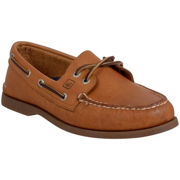 Men's Sperry Top-Sider Boat Shoe Loafer ($95) ❤ liked on Polyvore featuring men's fashion, men's shoes, men's loafers, tan, mens leather boat shoes, mens tan loafers, mens deck shoes, mens loafers boat shoes and mens shoes