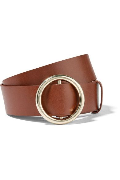 FRAME - Circle Leather Belt - Brown - P/S