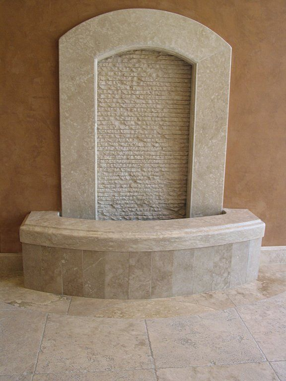 idea for an alcove wall fountain Best Finest High Quality Price Authentic Durango Stone Veracruz Tan Ivory Beige Taupe Mexican Travertine Bathroom Resin Filled Old World Honed Baseboards Ledger Stone Travertine Fountain and Architectural Feature