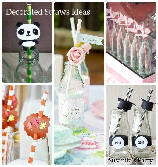 ideas para decorar los pitillos popotes en tu fiestamas en
