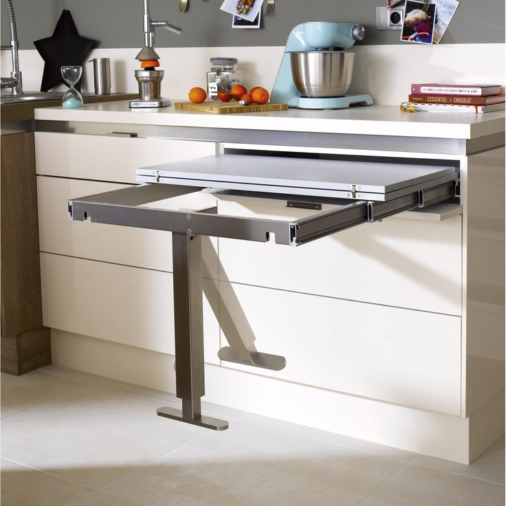 Hidden Table Desk From Leroymerlin Meuble Cuisine Rangement