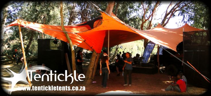 Orange bedouin stretch tent #stretchtents