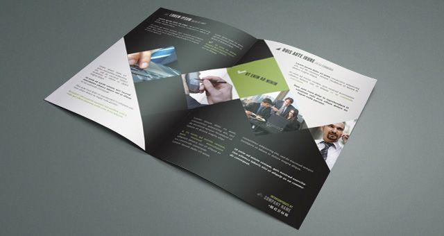 Bi-fold Corporate Brochure Templates Free