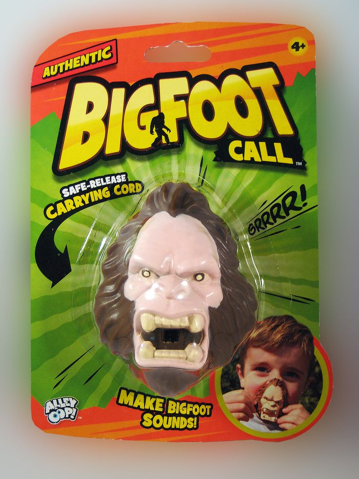 BIGFOOT CALL.... The original Big Foot Caller. Make Big Foot sounds by blowing into the mouthpiece to make low pitched growling sounds. Forcefully blow to create a shrieking Big Foot yell. theonestopfunshop.com