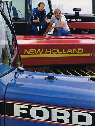 1987 Ford New Holland Versatile 2 Page Farm Tractor Dealer Magazine Ad | eBay