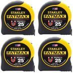 Stanley Fatmax 25 ft. Magnetic Tape Measure (4-Pack)