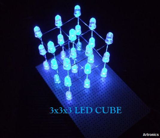 Artronics: How to make a 3x3x3 LED cube