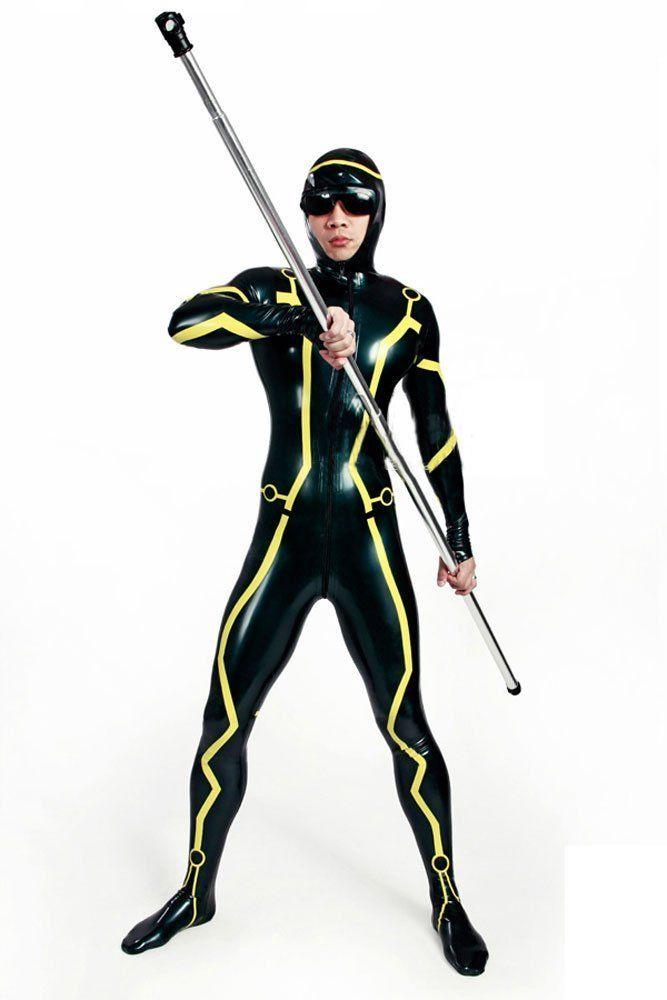 Tron Legacy Cosplay Latex Rubber Catsuit