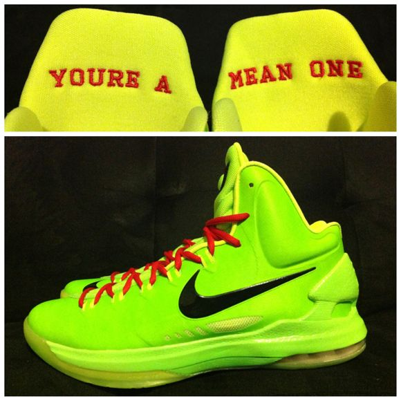 Kevin durant shoes 2013 KD V Grinch $70.00