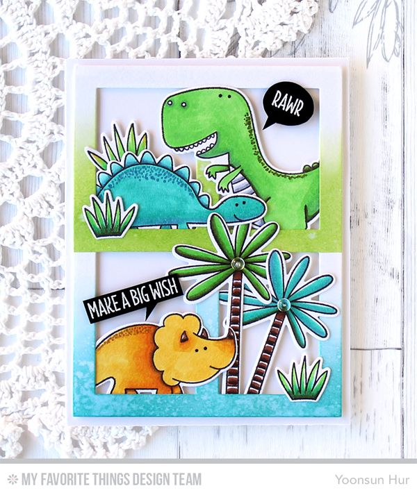 You're Rawr-some Stamp Set and Die-namics, Gift Box Cover-Up Die-namics - Yoonsun Hur  #mftstamps