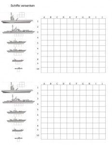 Schiffe Versenken Vorlage