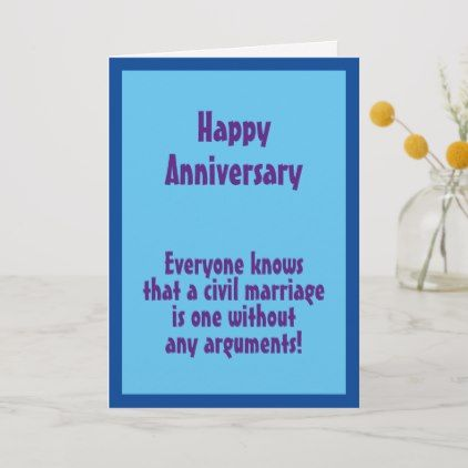 Funny One-liner 'Civil Marriage' Anniversary Card   Zazzle ...