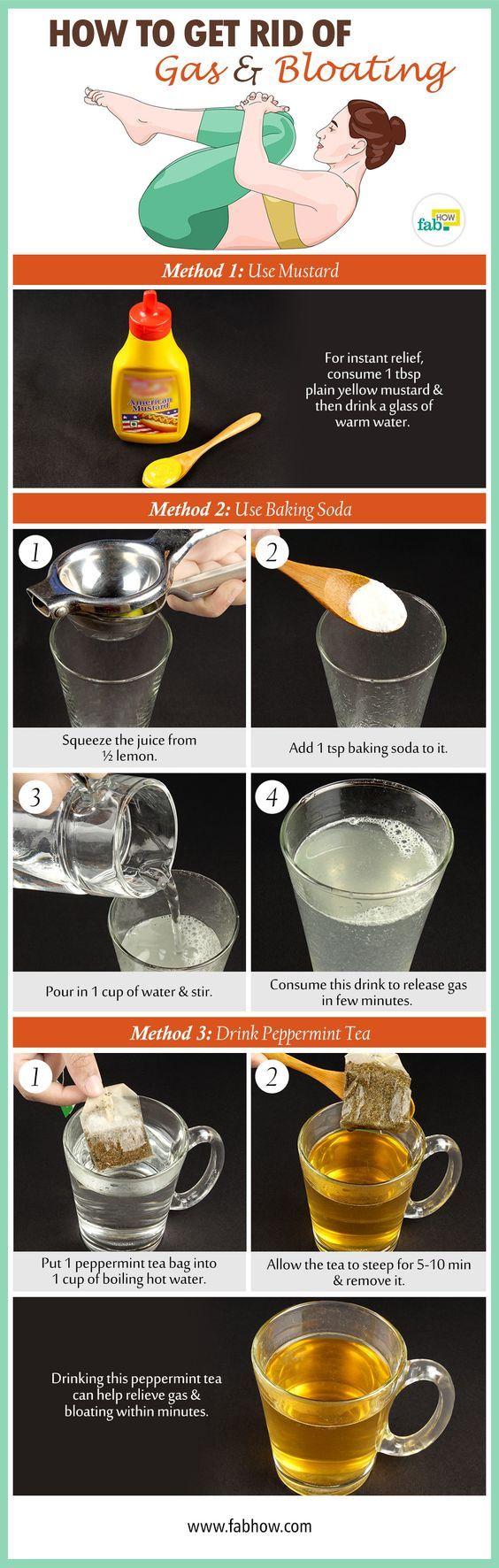 get rid of gas and bloating