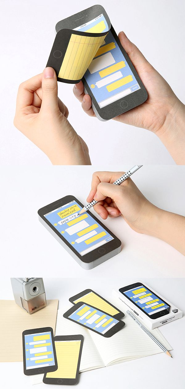 Wouldn't taking notes (and everything else) just be way more fun with this iPhone designed notepad? ^_~*