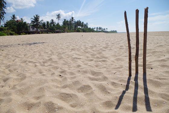 Cricket, Tangalle beach, Sri Lanka
