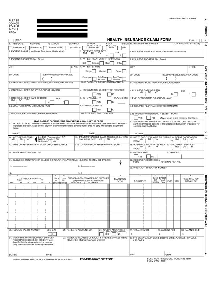 Insurance Claim Template Form Why You Must Experience ...