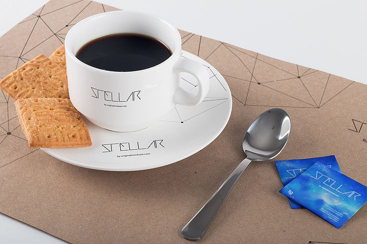 Original Mockups - Coffee Cup and Placemat Mockup 01