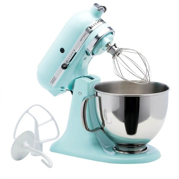 KitchenAid RRK150IC Ice 5 Quart Artisan Tilt Head Stand Mixer ($223) ❤  Liked On Polyvore Featuring Home, Kitchen U0026 Dining, Small Appliances, Blue,  ...