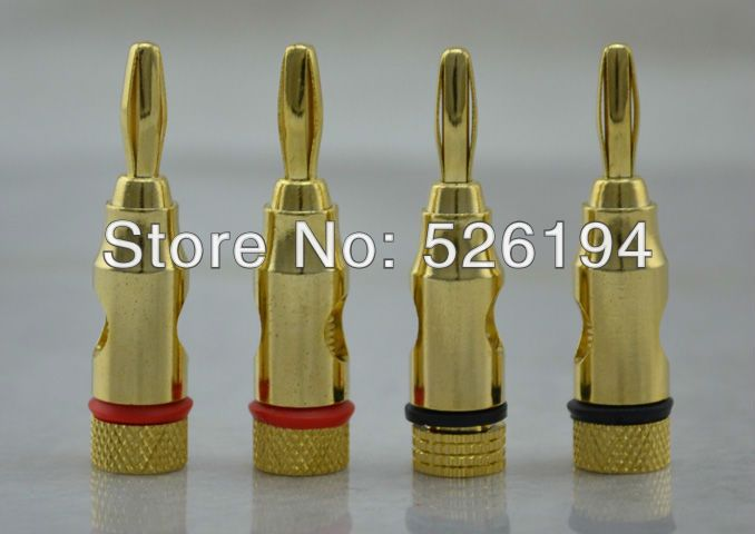 Free shipping High Performance High Performance Gold Plated Banana Connector Banana Adapter Hi End Plugs #Affiliate