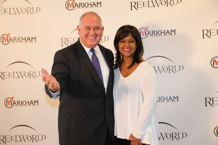 ReelWorld Film festival eutive director Tonya Williams (with Mayor Frank Scarpitti) celebrates diversity in Markham April 11-13