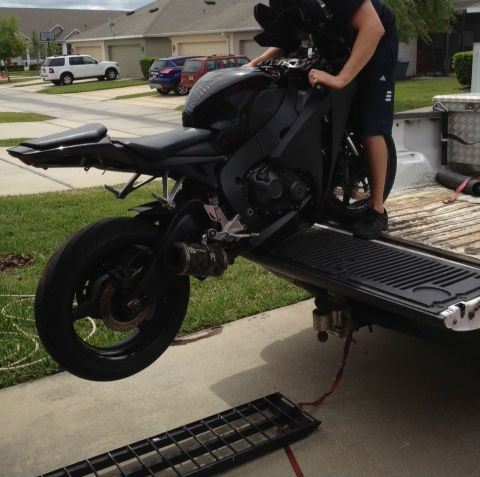 When Loading And Unloading A Motorcycle Please Remember