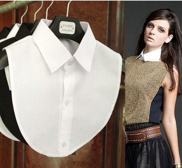 Women False White Black Blouse Detachable Collars Braziers Bra Dress WCA091 #Unbranded #RoundCollar #Casual