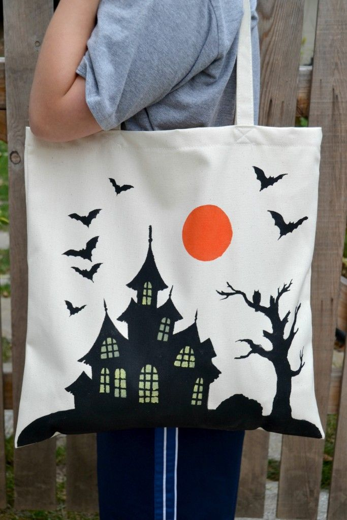 mycreativedays: Painted Halloween Bags