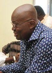Nana Addo Dankwa Akufo-Addo (* 29. März 1944 in Swalaba, Accra) ist seit dem 7. Januar 2017 Präsident der Republik Ghana.Wikipedia