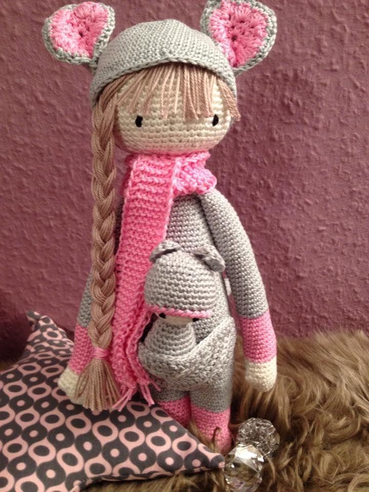 KIRA the kangaroo made by Tina / crochet pattern by lalylala