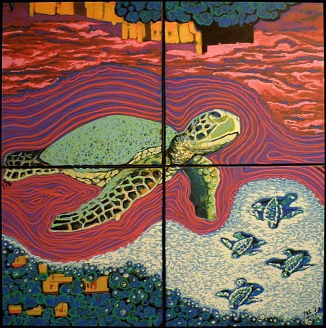 """"""" Ακρωτήριο Χελωνάτα """" - """" Chelonata Cape """" - - acrylics on canvas"""