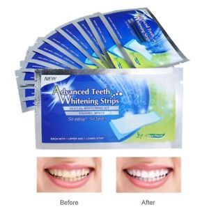 28 x Advanced Teeth Whitening Strips Professionelle Zahnaufhellung für Zuhause