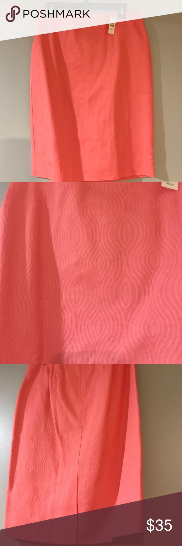 Coral Pencil Skirt Almost pastel. Brand new with Tags. Lined. Cotton. Talbots Skirts Pencil