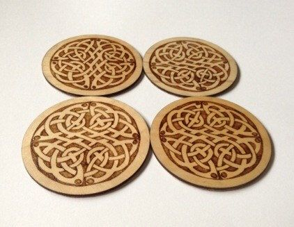 A personal favourite from my Etsy shop https://www.etsy.com/listing/237817003/handmade-wooden-knot-design-coasters-set