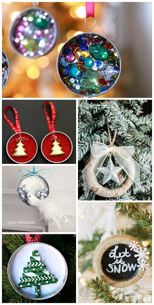 Mason Jar Lid Ornament Ideas to Make for Christmas -Fun homemade gifts | CraftyMorning.com