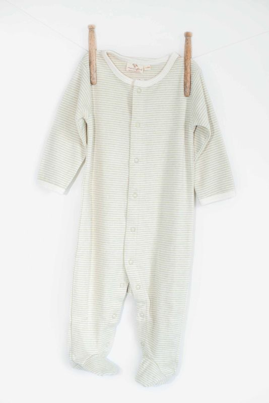 Bamboo 100% all in one baby outfit.