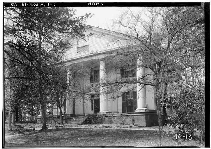 1.  Historic American Buildings Survey Branan Sanders, Photographer March 1934 FRONT VIEW NORTHEAST - Bulloch Hall, Roswell, Fulton County, GA | Library of Congress