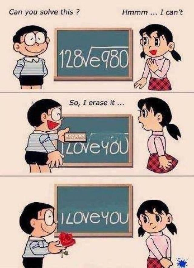 Aw this is cliché but CUTE.. math nerds, add this to your pick up line list lol