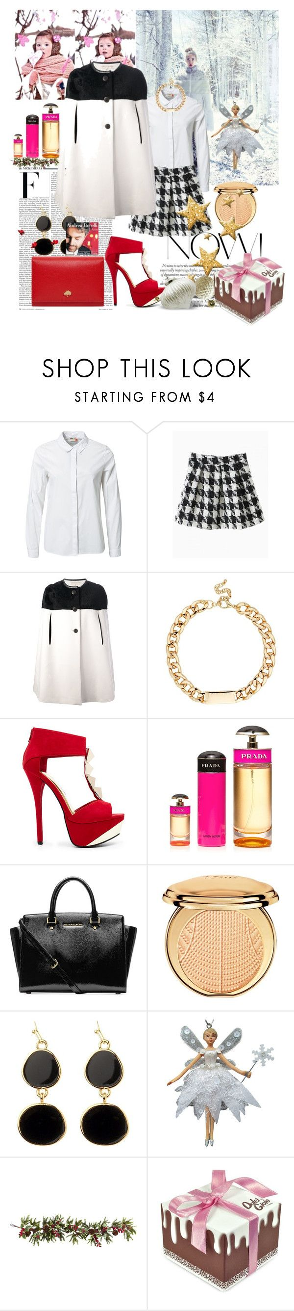 """""""DECEMBER CAPE"""" by eiliana ❤ liked on Polyvore featuring Nicki Minaj, Lauren Conrad, ONLY, Emilio Pucci, Red Herring, 2b bebe, Prada, Michael Kors, Christian Dior and Adele Marie"""
