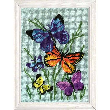 Butterflies Galore Tapestry Kit by Design Works is one of a range of beautiful needlepoint designs using 12 count printed canvas.