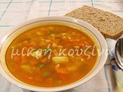 μικρή κουζίνα: Σούπα μινεστρόνε