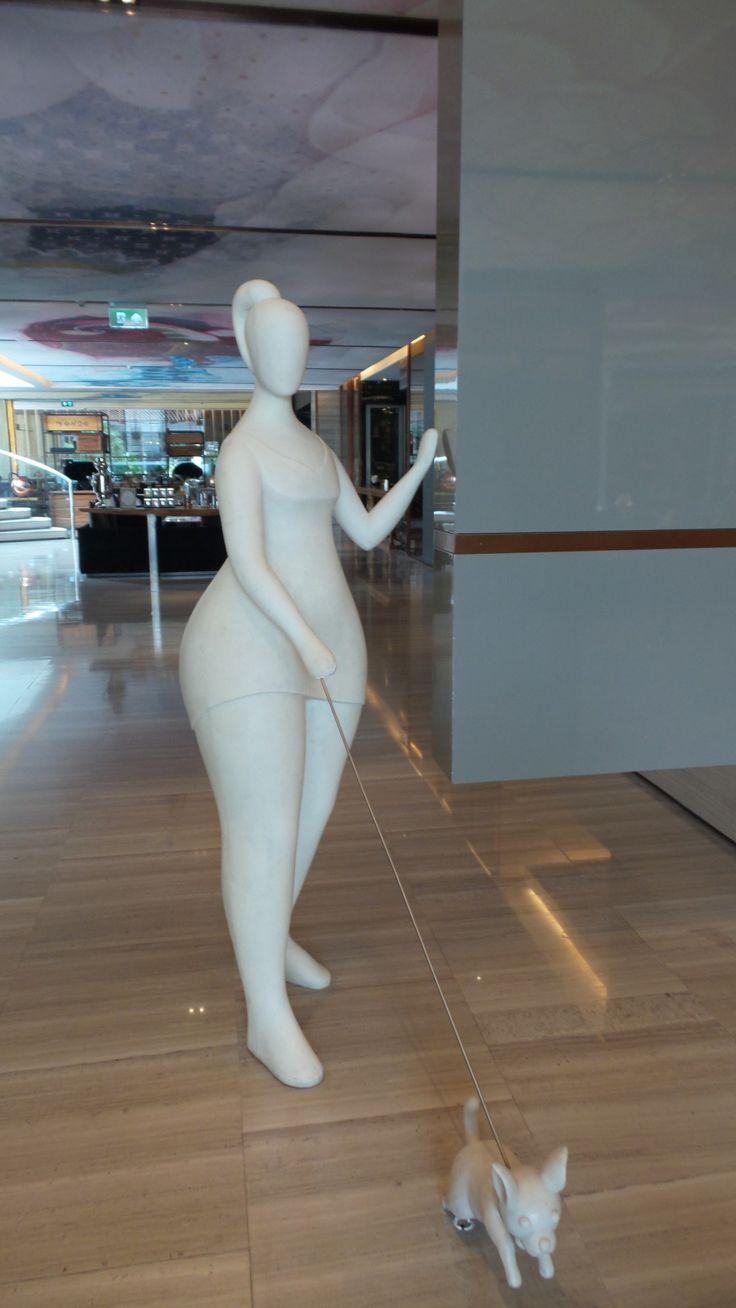 Lobby at the Hilton Sukhumvit Bangkok Hotel