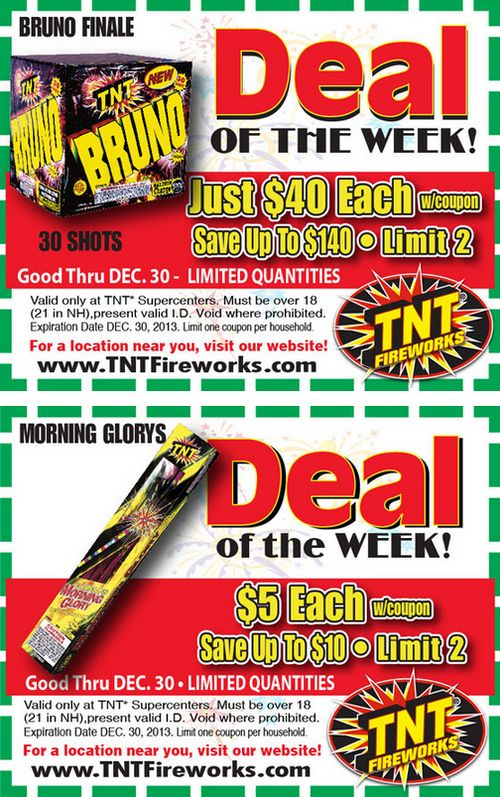 graphic relating to Tnt Fireworks Coupons Printable titled Printable discount codes for tnt fireworks : Annas pizza coupon codes
