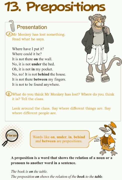 Prepositions English grammar, English language teaching
