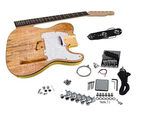 8 best diy kits images on pinterest kits de diy guitarras solo tele style diy guitar kit spalted maple top rosewood solutioingenieria Choice Image